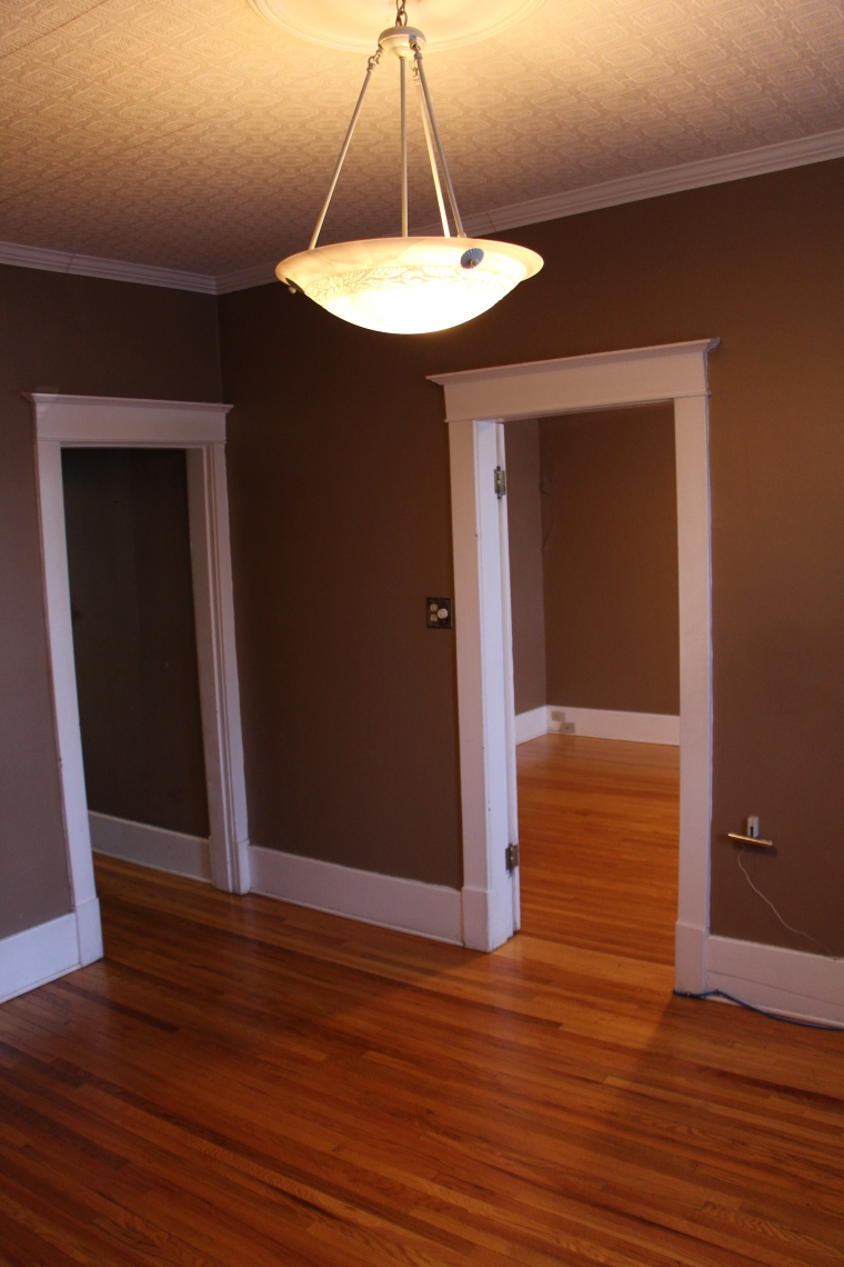 Gibbard Block floors and baseboards