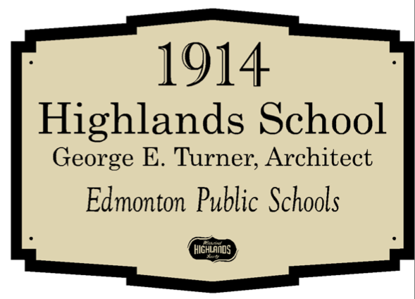 Highlands School Plaque