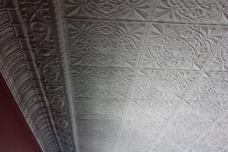 Gibbard Block Pressed Tin Ceiling Main Floor