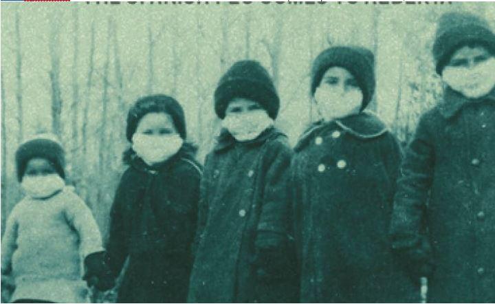 kids in flu garb